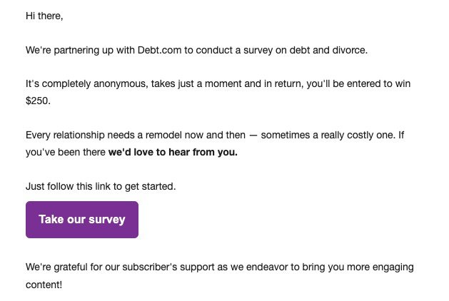 Survey Invitation Emails_Giving Rewards for the Survey