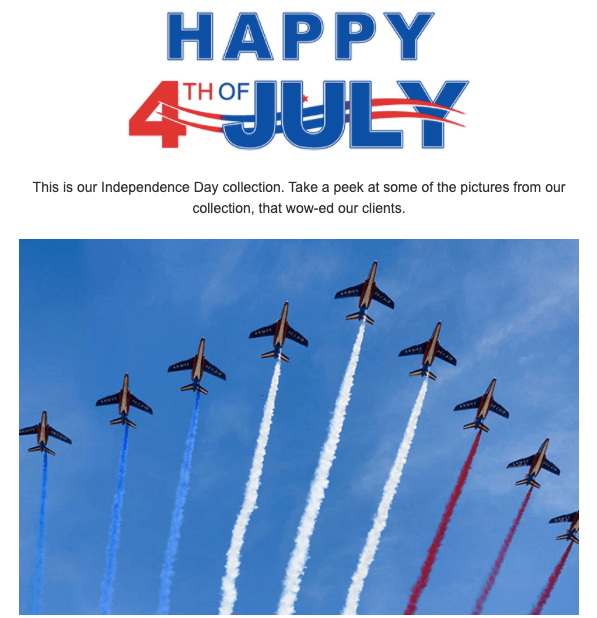 4th of July Email Marketing Examples