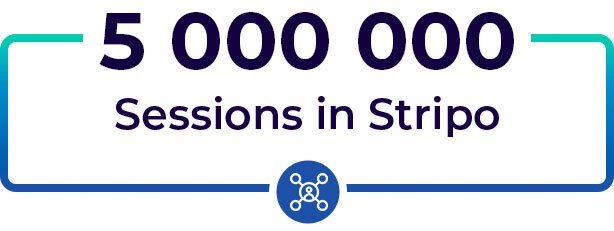 5 Million Sessions on Stripo Site