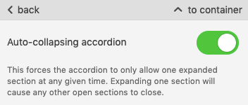 AMP Accordion_Toggling Auto-Collapsing Function