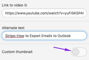 Adding Custom Thumbnail Image