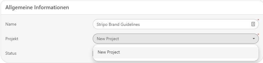 Allgemeine Informationen-Projekt
