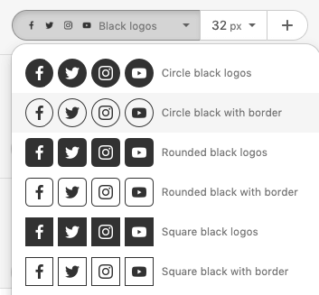 Choosing Black and White Social Media Icons
