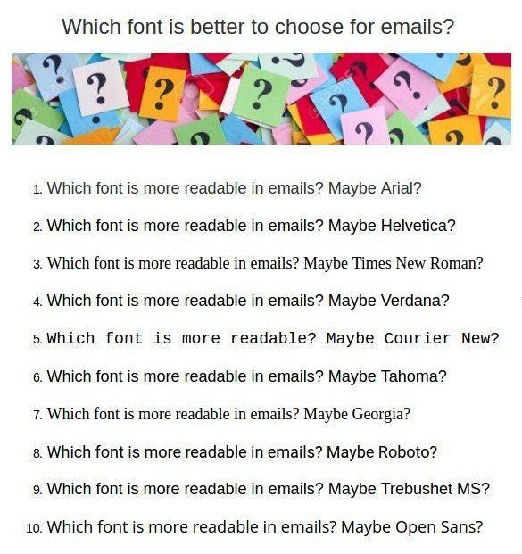 Choosing Email Fonts