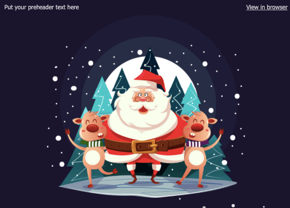 Christmas Email Design Ideas_Cheerful Santa