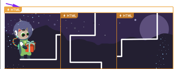 Clicking on the HTML Icon to Open Code Part with Styles