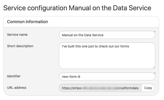 Configuration of Data Service