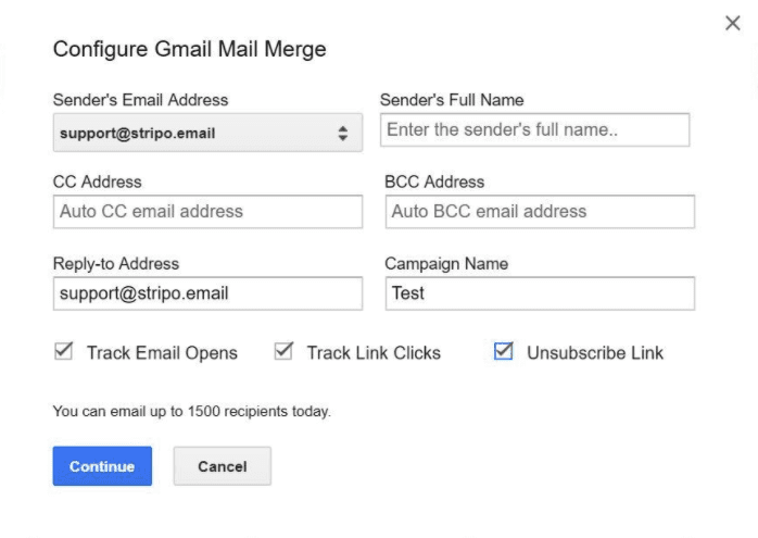 Configuring Mail Merge Tracking