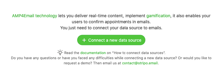 Create a New Data Source Button