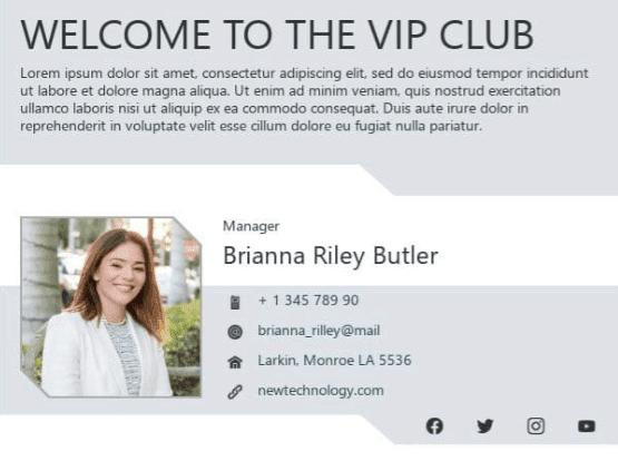 примеры профессиональный подписей_Приветствуем в VIP-клубе