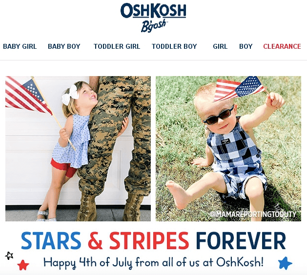 Design Ideas for 4th Of July Emails