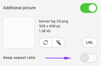 Disabling the Keep Aspect Ratio Option