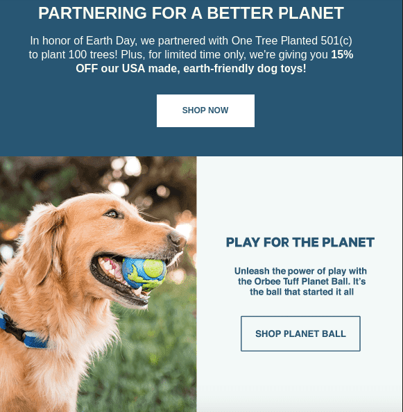 Earth Day Email Newsletter Ideas_Selling Only Eco Friendly Products