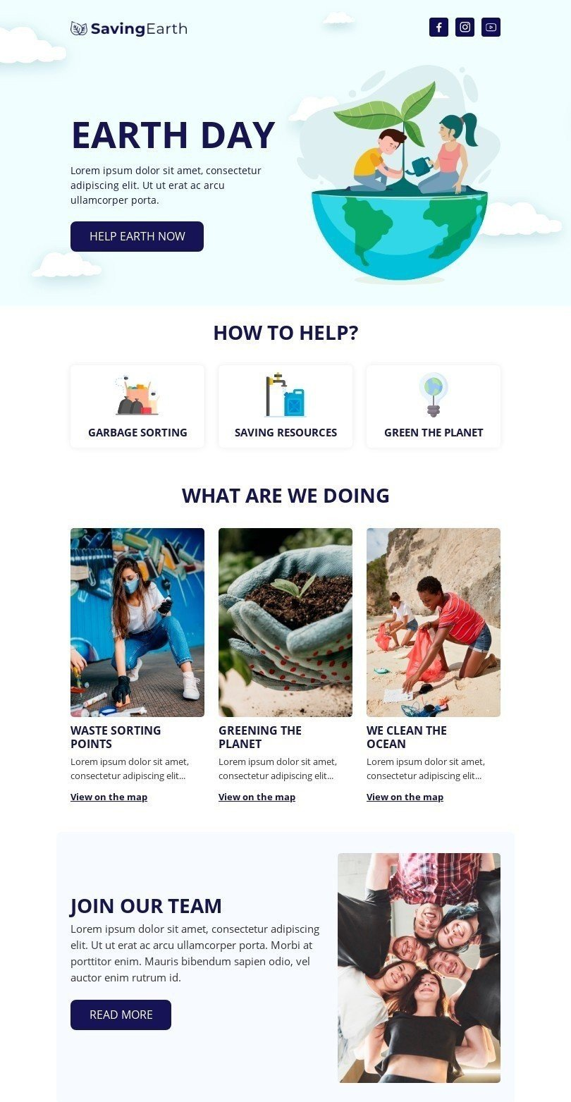 Earth Day Email Template Built by Stripo