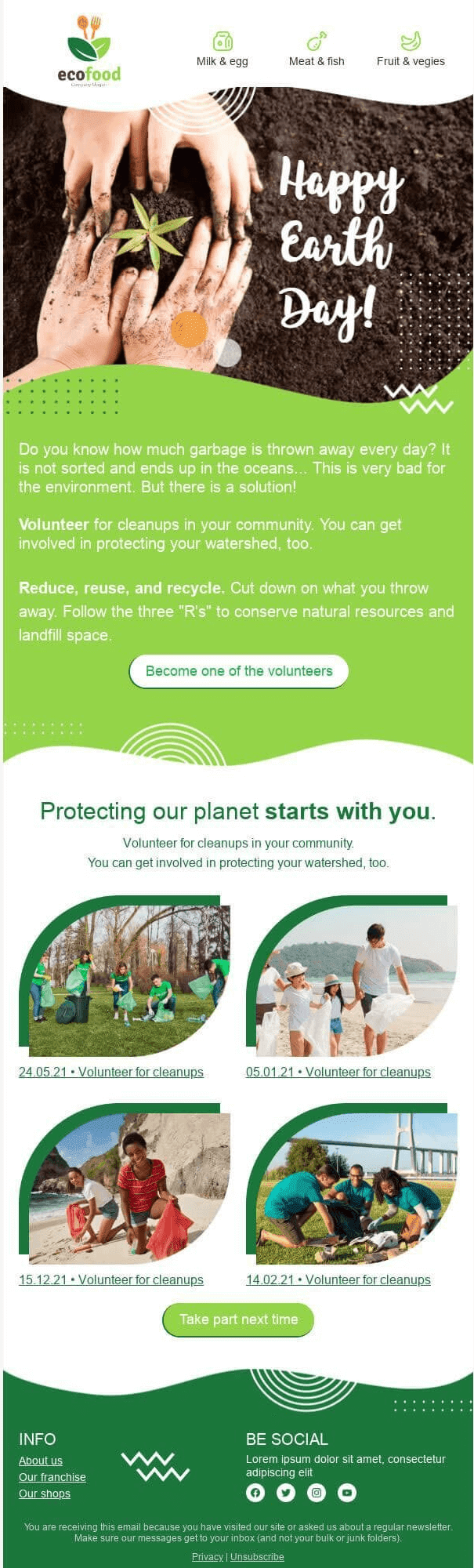 Earth Day Email Template