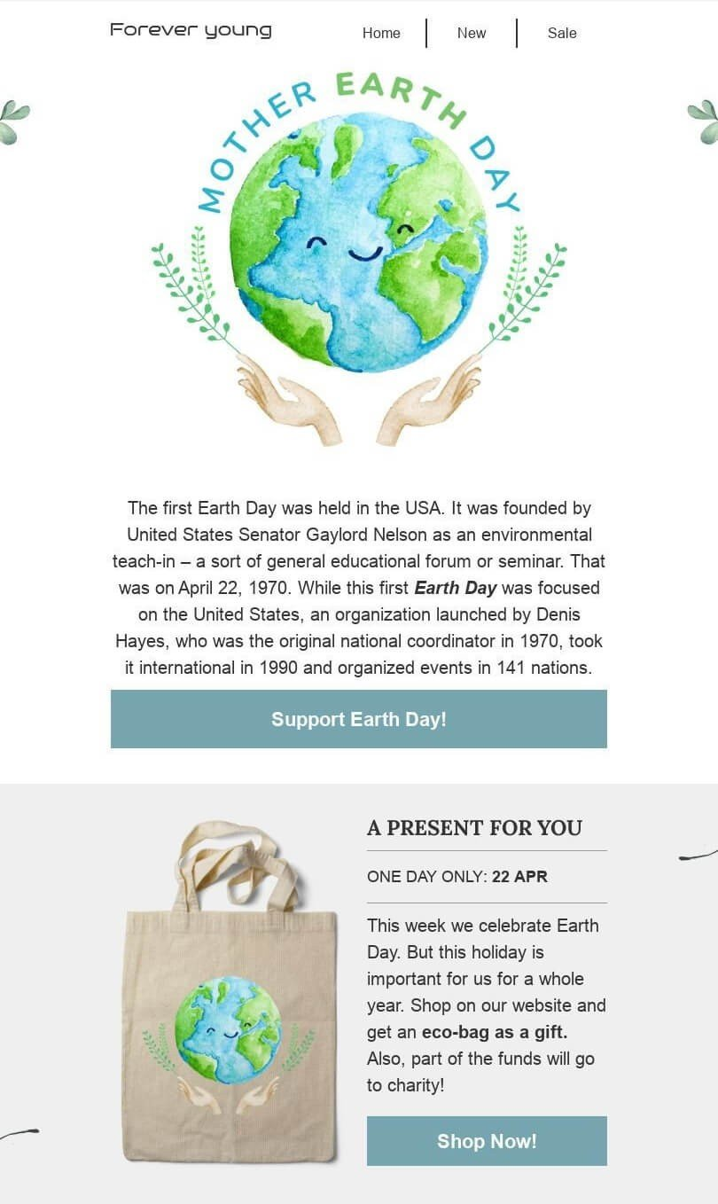 Earth Day Newsletter Ideas_Giving Out Eco Bags