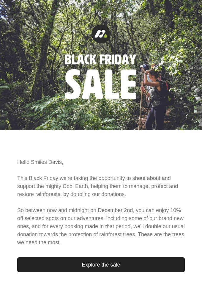 Earth Day Newsletter Ideas_Stop Black Friday Sales