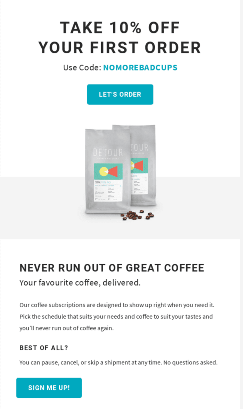 Email Coupon Examples_Light Design
