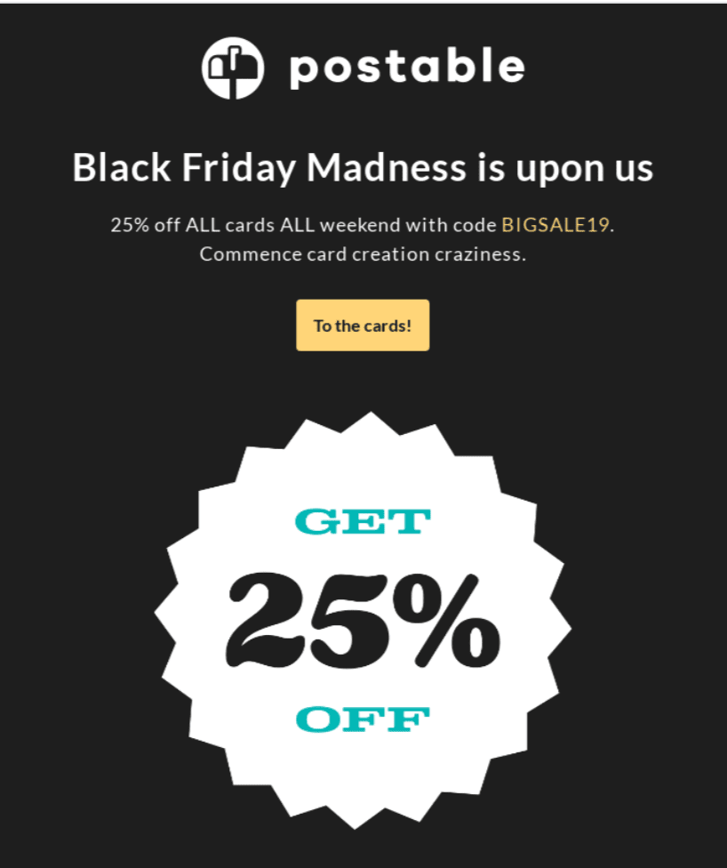 Email Coupons for Black Fridays
