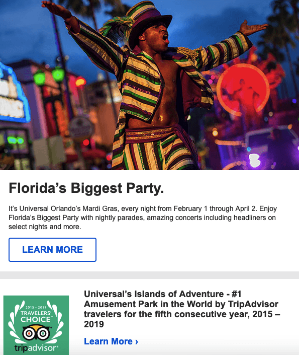 Email From Orlando_Universal