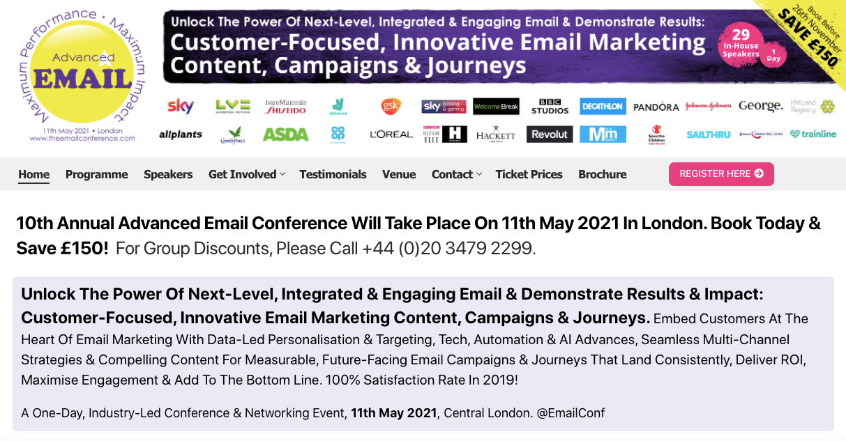 Email Marketing Conferences_Advanced Email