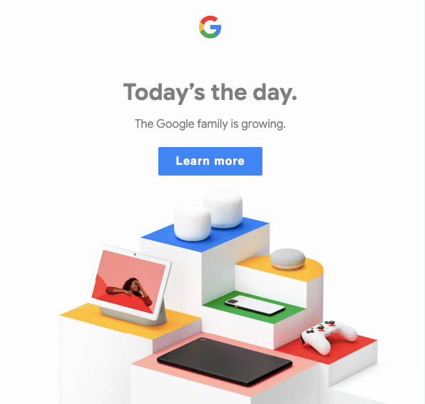 Emails from Google