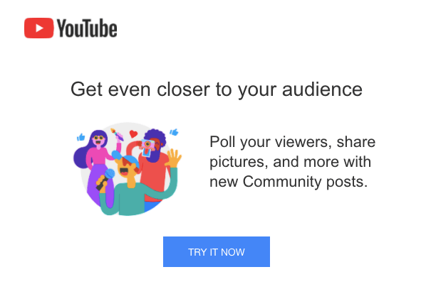 Emails from Youtube