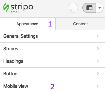 Entering the Mobile View Tab_Working with Button