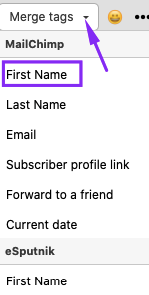 First Name for Internal Newsletters