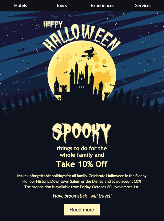 Halloween Email Template by Stripo