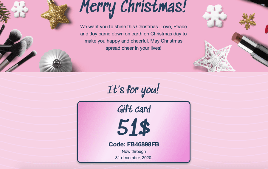 Holiday Email Coupon Template_by Stripo
