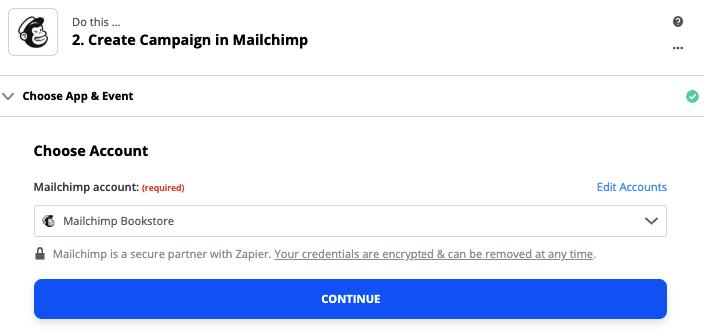 Mailchimp Sets Necessary Account