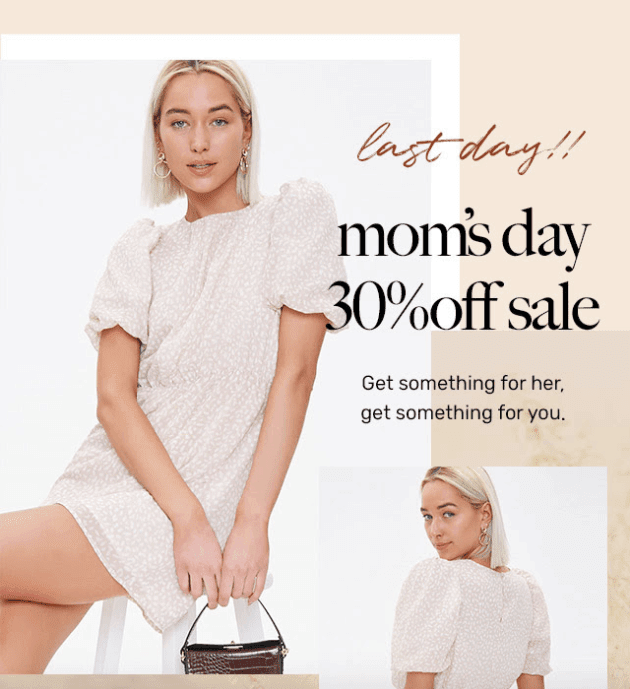 Mothers Day Email Ideas_Generous Sales