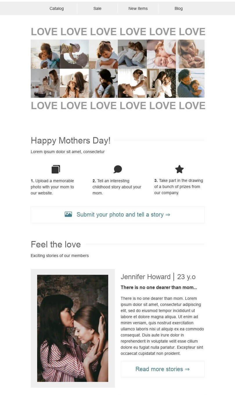 Mothers Day Email Marketing Ideas_Sharing Stories from Childhood
