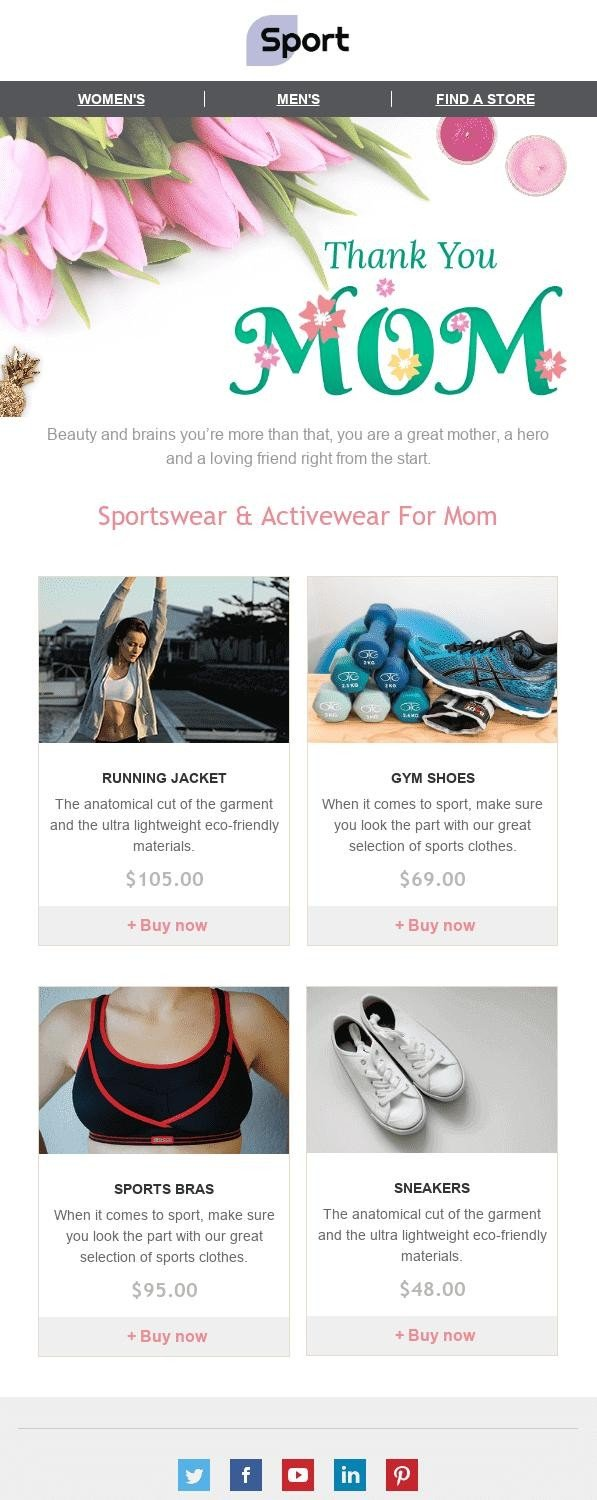 Mothers Day Email Template