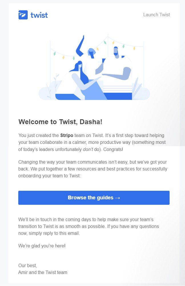 Onboarding Email Examples_ by Twist