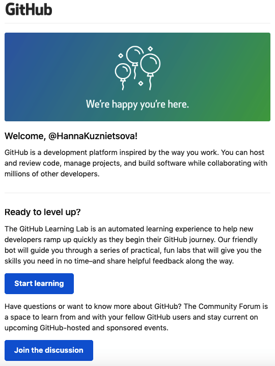 Onboarding Email Examples_GitHub