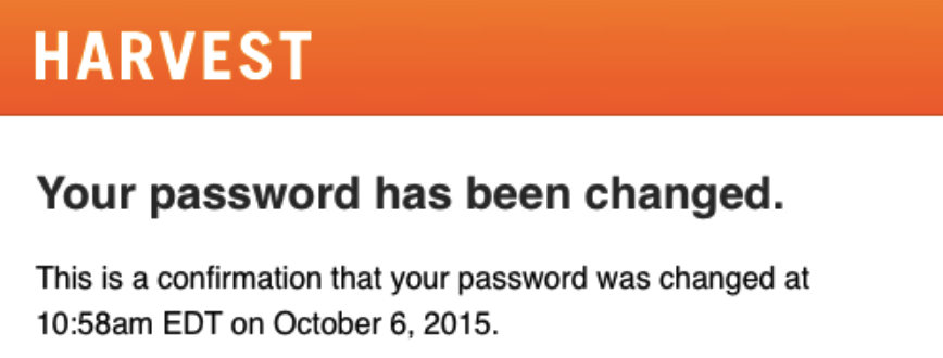 Password Reset Confirmation Emails