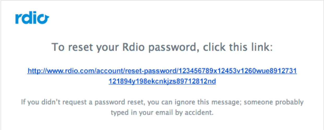 Password Reset Email with Link