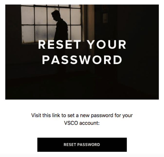 Password Reset Emails with Meaningful Banners
