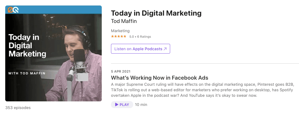 Podcasts on Email Marketing_Today in Digital Marketing
