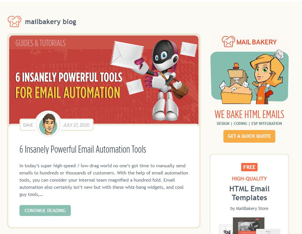 Популярный блог-Mailbakery
