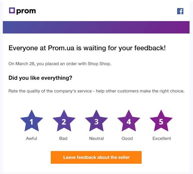 Post Purchase Email Review