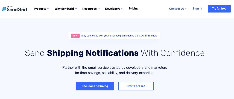 SendGrid_Home Page