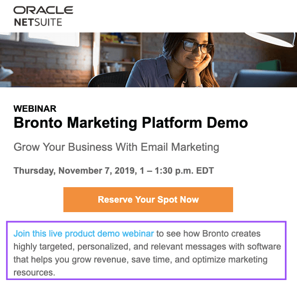 Sharing Experience in Webinar Invite Emails