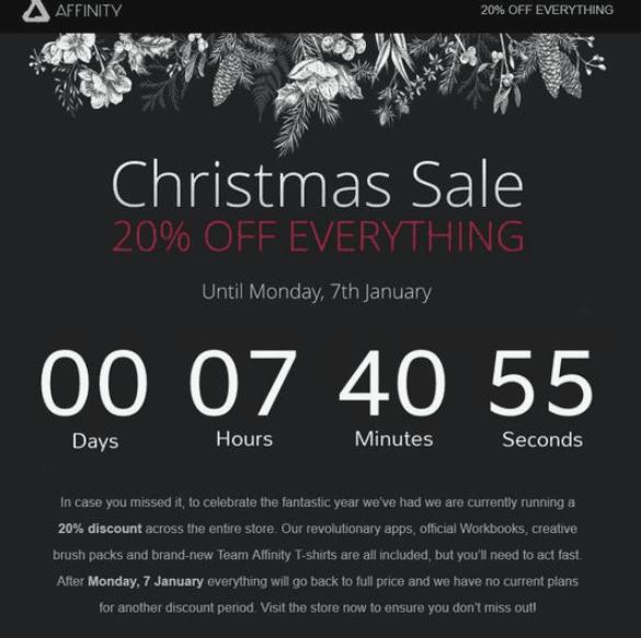Stripo Countdown Timer Christmas Sale