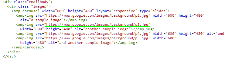 Stripo How to Build AMP-Emails with Stripo_Replacing the Links to Images with Proper Ones