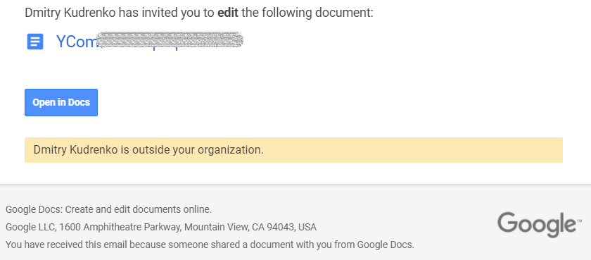 Notification Emails by Google Docs_Stripo