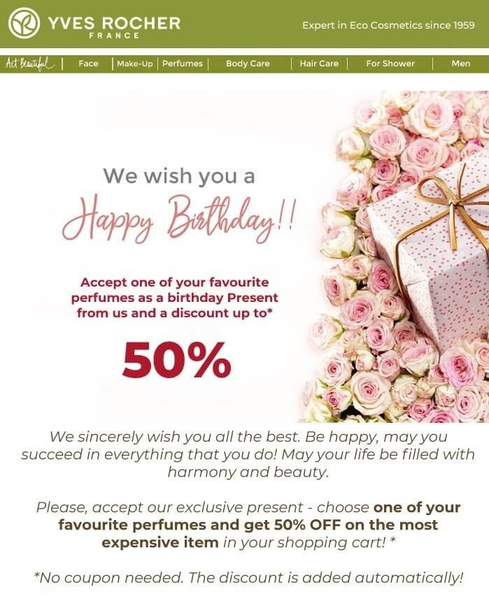 Stripo Personalized Birthday Offer