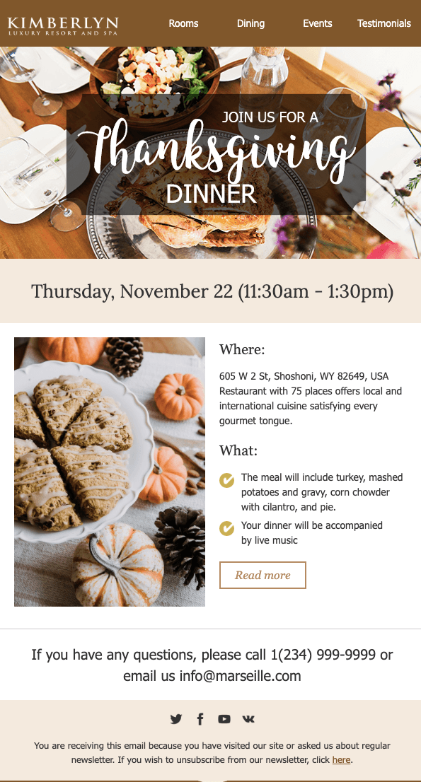 Stripo Thanksgiving Email Template